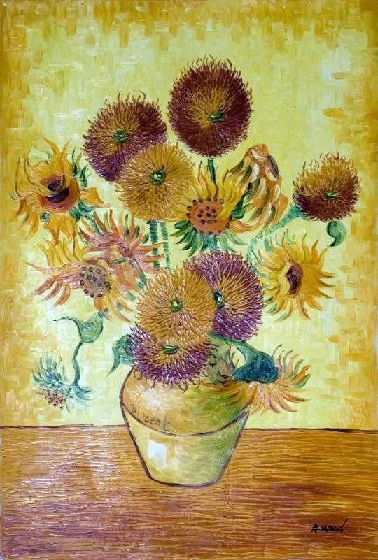 Sunflowers. August by Vincent Van Gogh