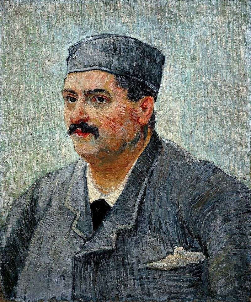 Portrait of the owner of the restaurant by Vincent Van Gogh