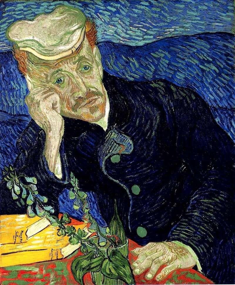 Portrait of Dr. Gachet II by Vincent Van Gogh