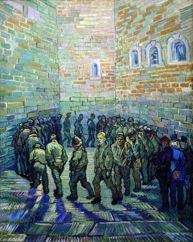 Walk of prisoners by Vincent Van Gogh