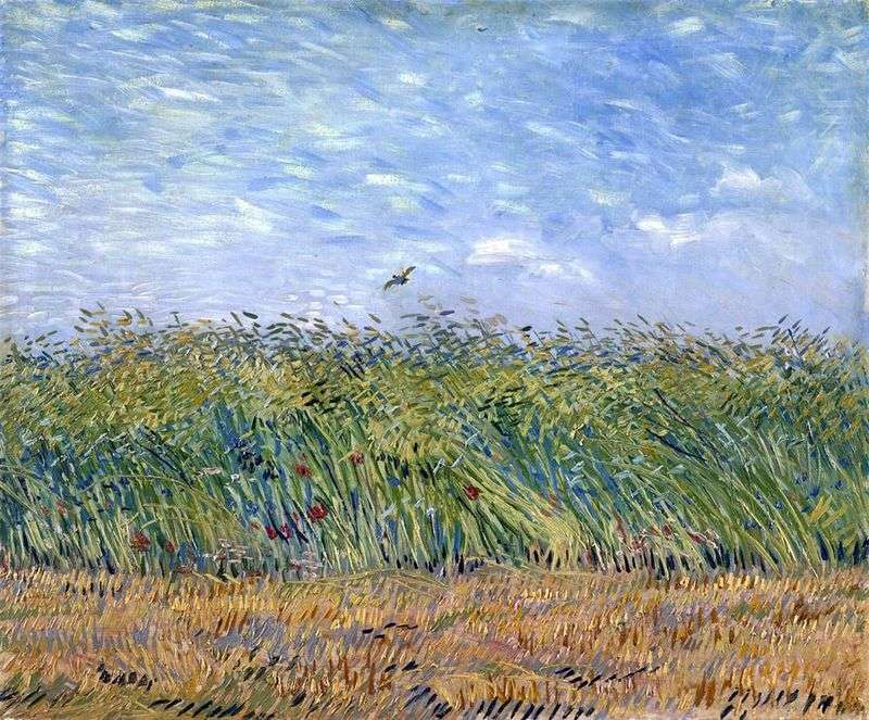 Wheat field with a lark by Vincent Van Gogh