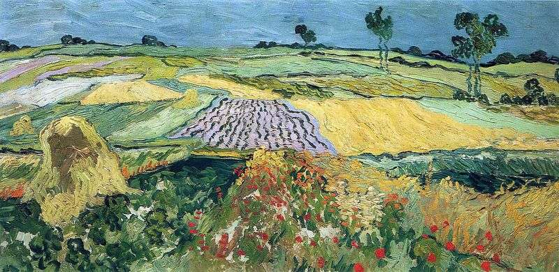 Wheat fields, the plain of Over by Vincent Van Gogh