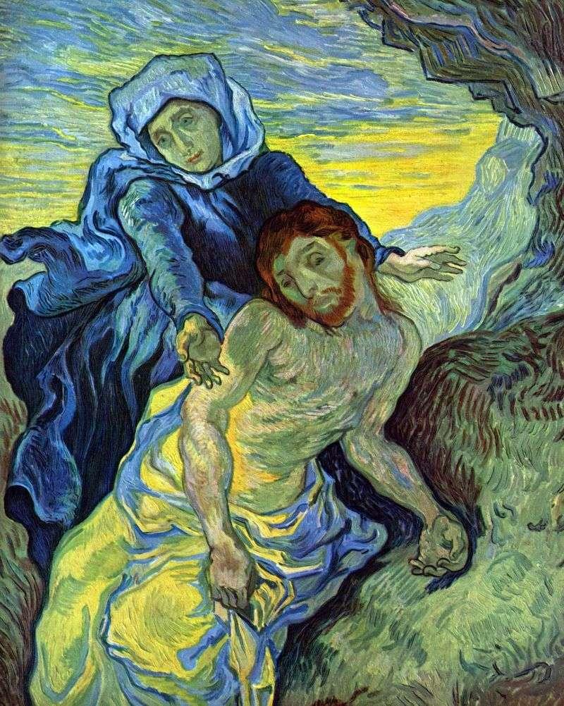 Pieta (by Delacroix) by Vincent Van Gogh