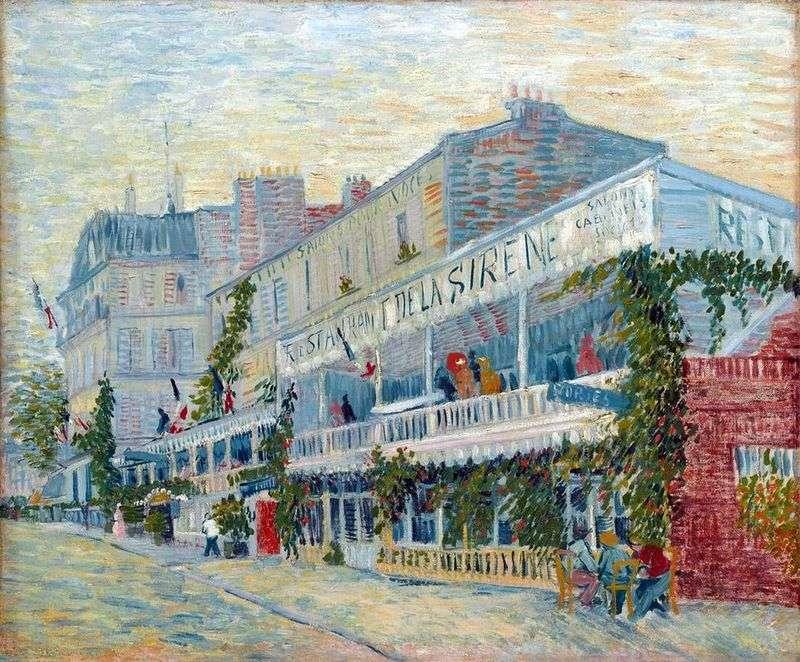 Restaurant Sirena on Asnieres by Vincent Van Gogh