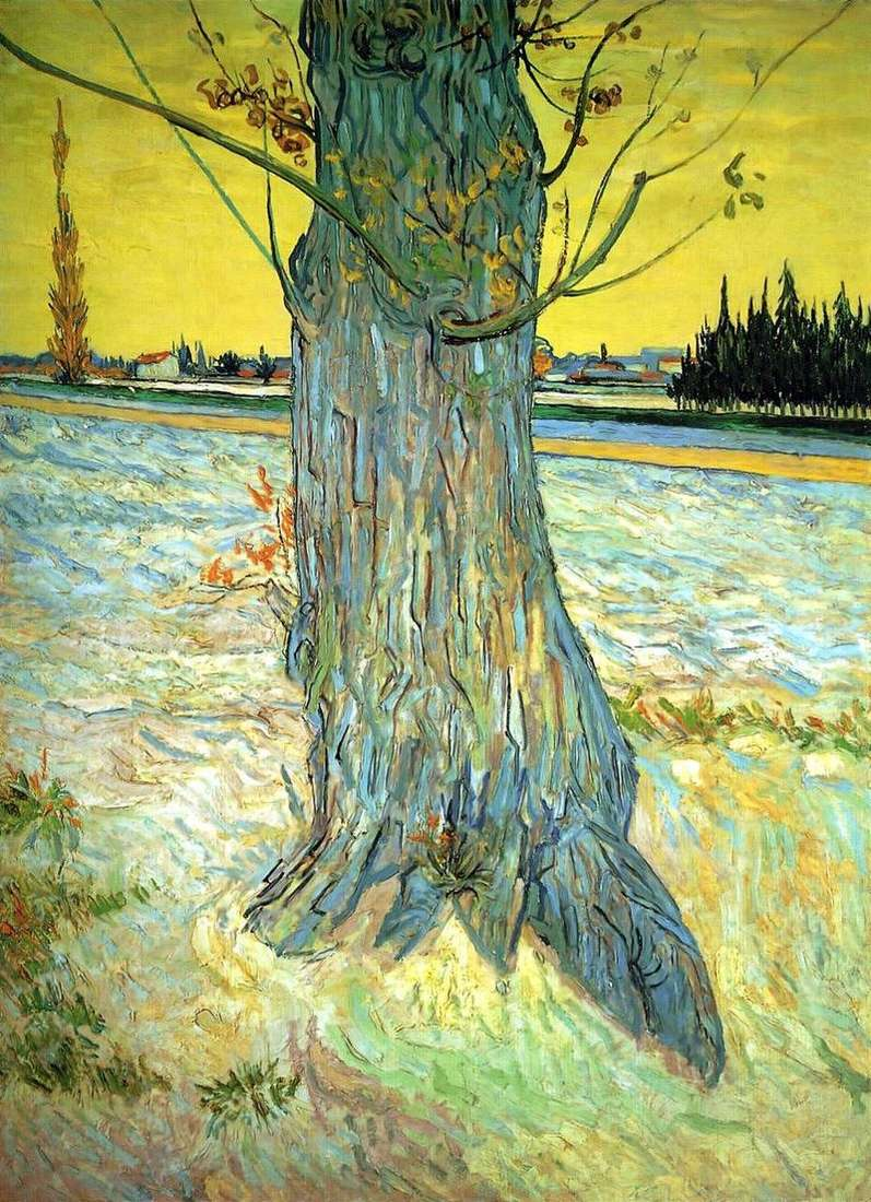The trunk of the old yew   Vincent Van Gogh
