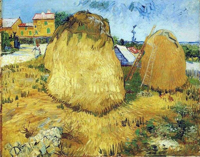 Haystacks in Provence by Vincent Van Gogh
