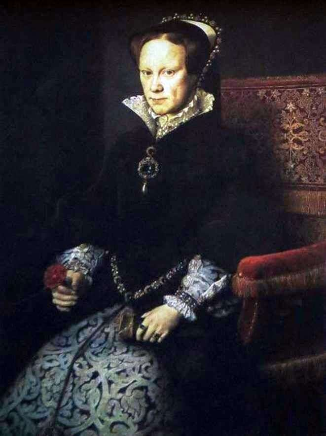 Portrait of Maria Tudor by Antonio Moro van Dashorst