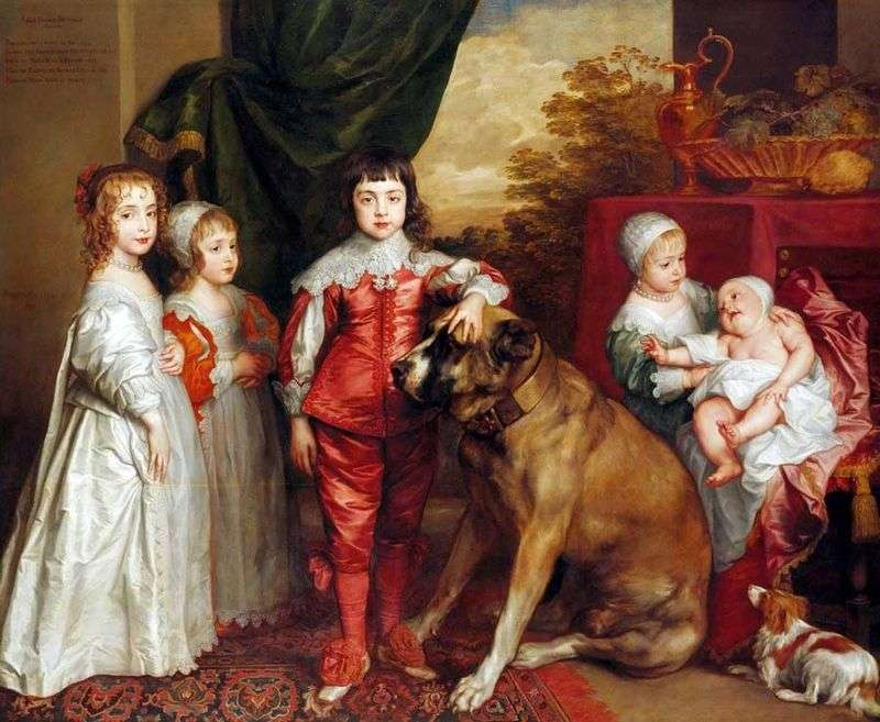 Children of Charles by Anthony Van Dyck