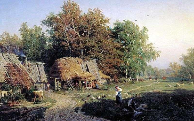 The village by Fedor Vasilyev