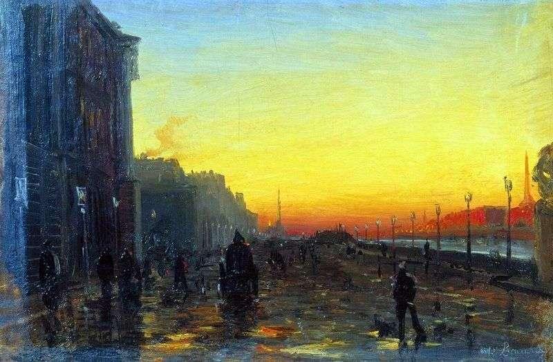 Dawn in St. Petersburg by Fedor Vasilyev