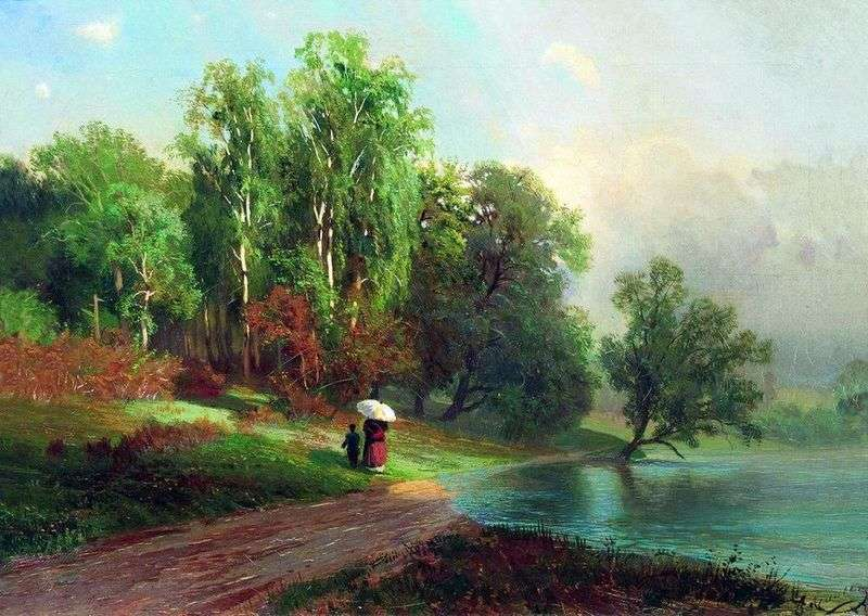 Summer. River in Krasnoye Selo by Fedor Vasilyev