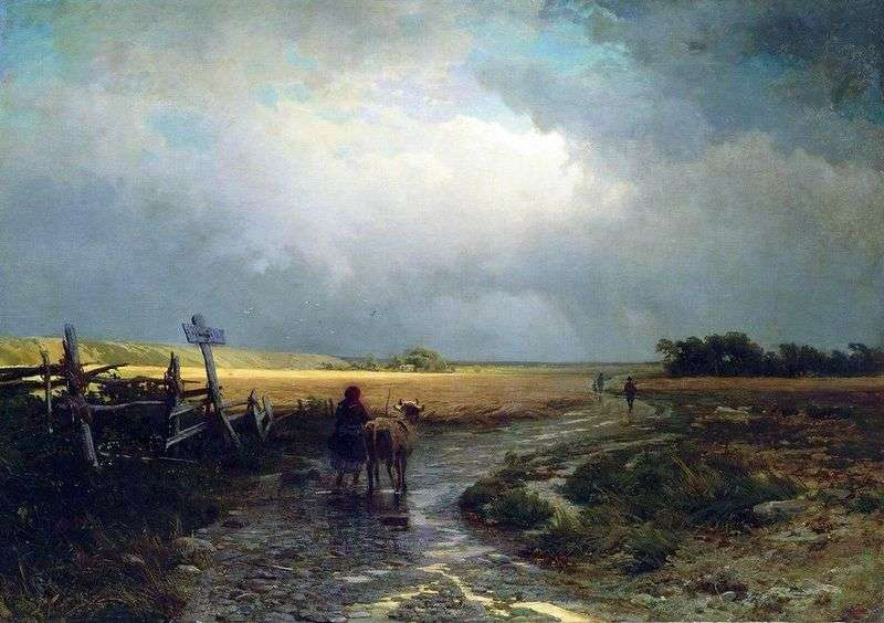 After the rain. Proselok by Fedor Vasilyev