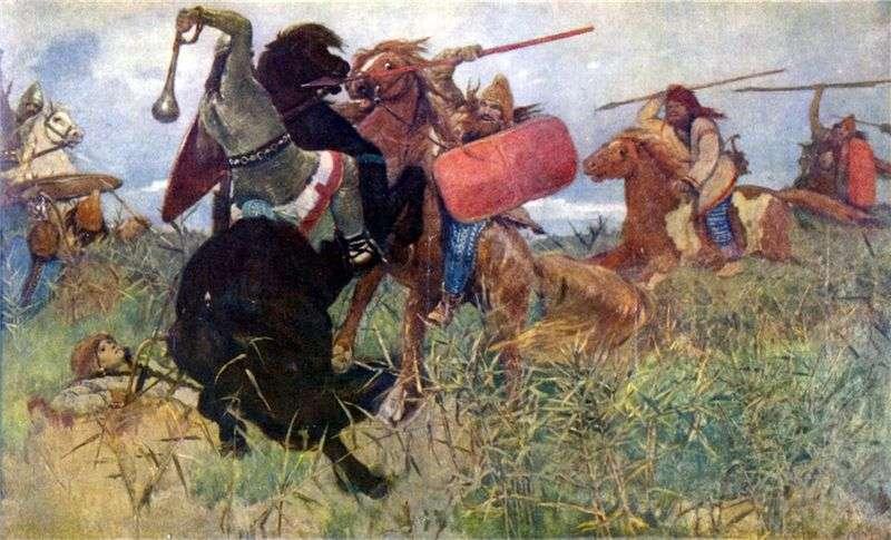 The Scythians fight with the Slavs by Victor Vasnetsov