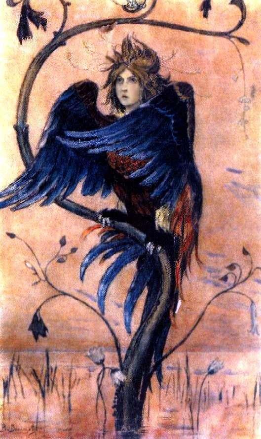 Gamayun, a prophetic bird by Victor Vasnetsov