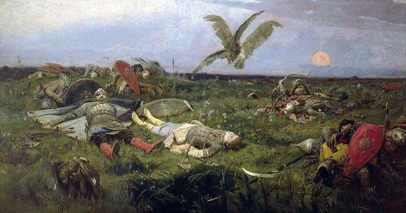 After the massacre of Igor Svyatoslavich with the Polovtsians by Victor Vasnetsov
