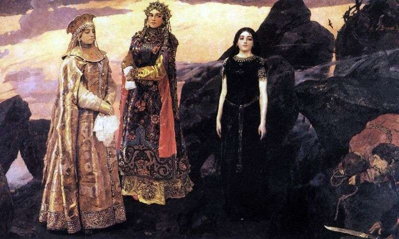Three princesses of the underworld by Victor Vasnetsov