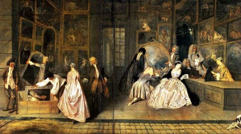 A sign of Gersens shop by Jean Antoine Watteau
