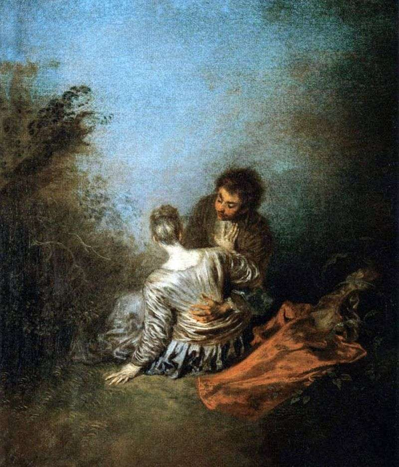 A gross mistake (Luck) by Jean Antoine Watteau