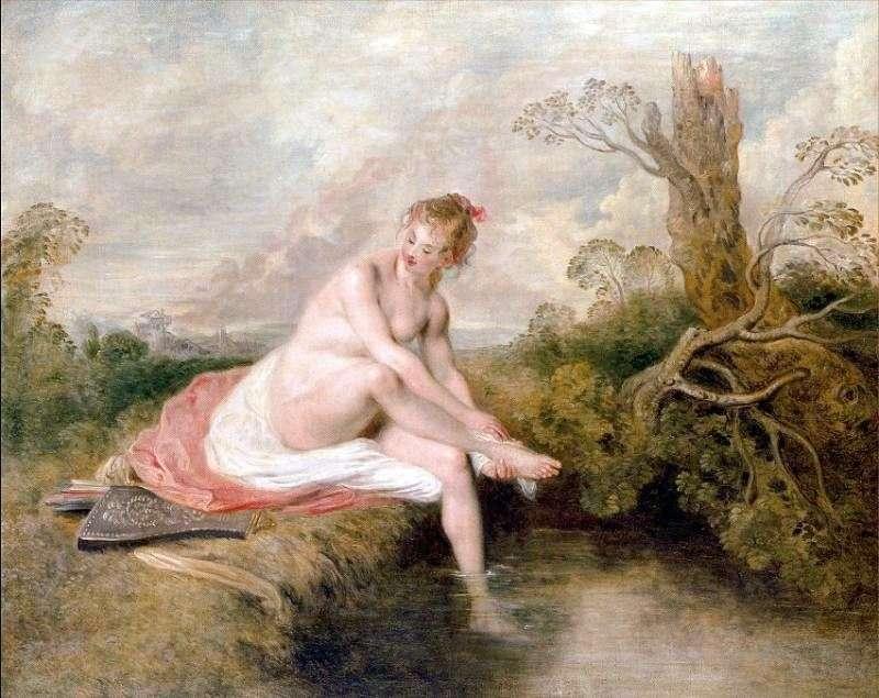 Bathing Diana by Jean Antoine Watteau
