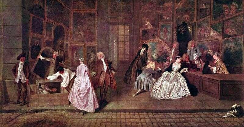 Gersens Bench by Jean Antoine Watteau