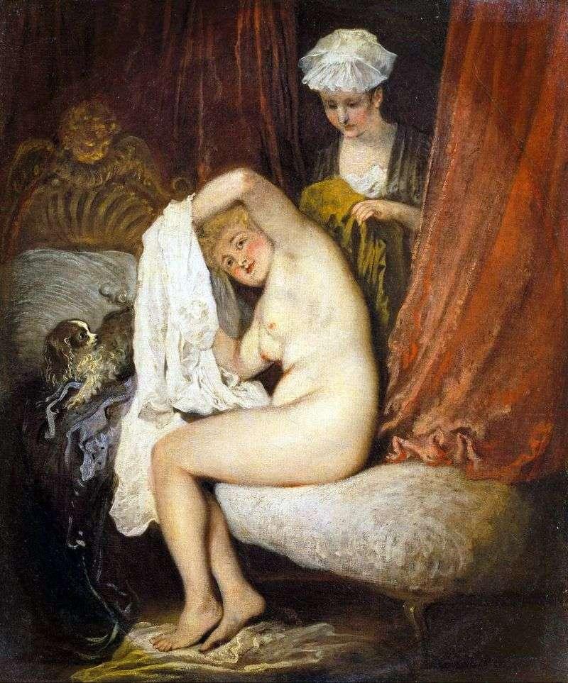 Dressing by Jean Antoine Watteau