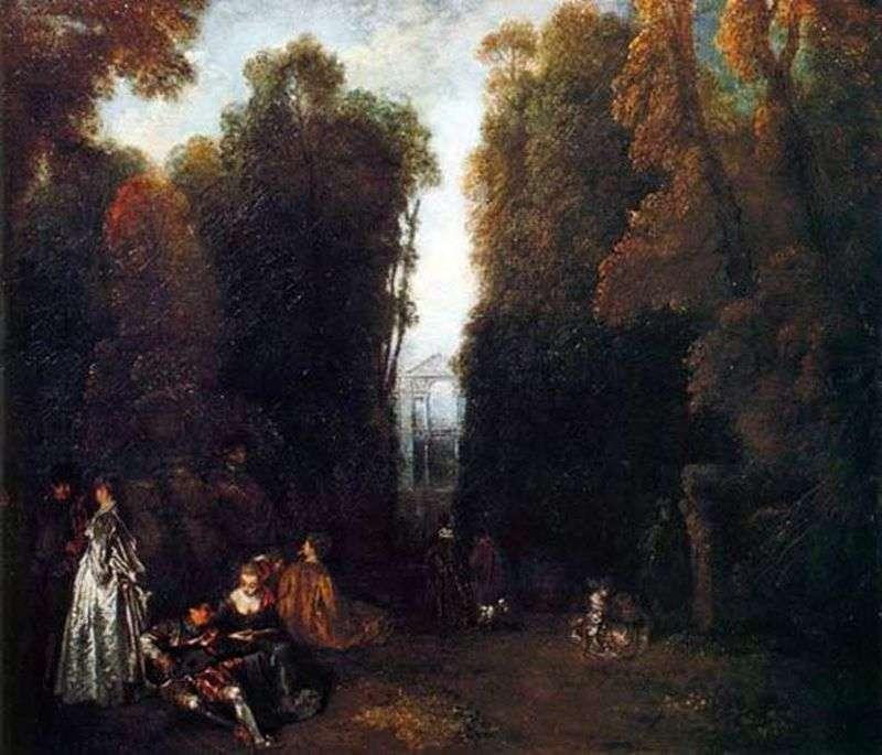 Perspective Romantic environment by Jean Antoine Watteau
