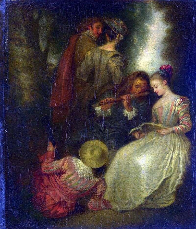 Full harmony by Jean Antoine Watteau