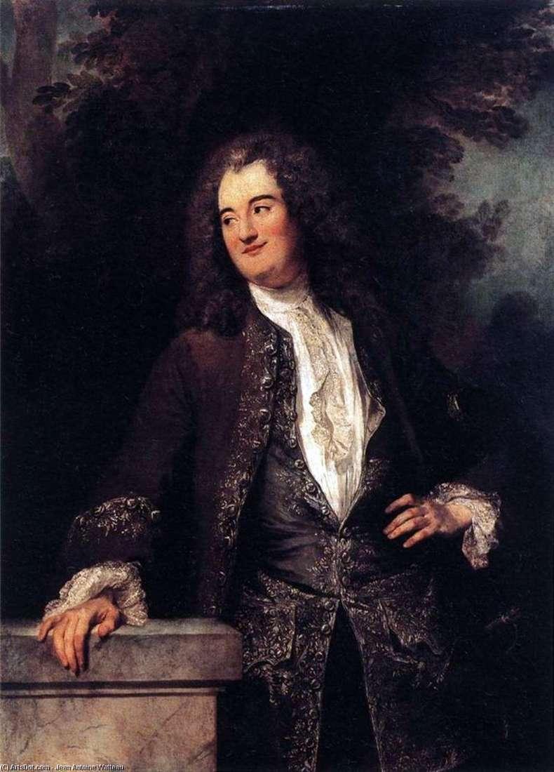 Portrait of a Chevalier by Jean Antoine Watteau