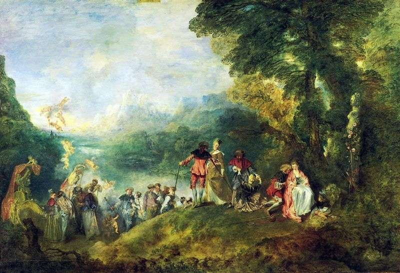 Pilgrimage to the island of Kiefer by Jean Antoine Watteau