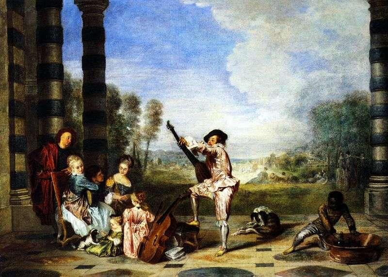 Joy of life by Jean Antoine Watteau