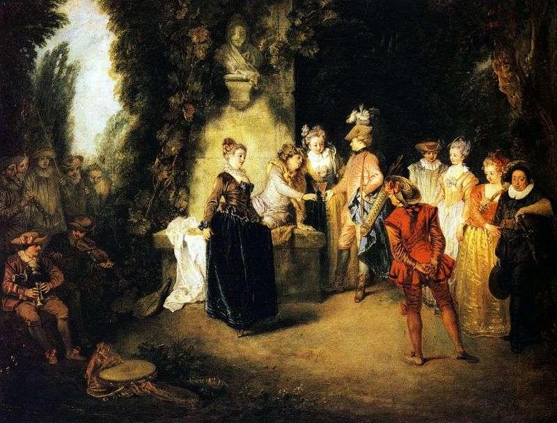 French Comedy by Jean Antoine Watteau