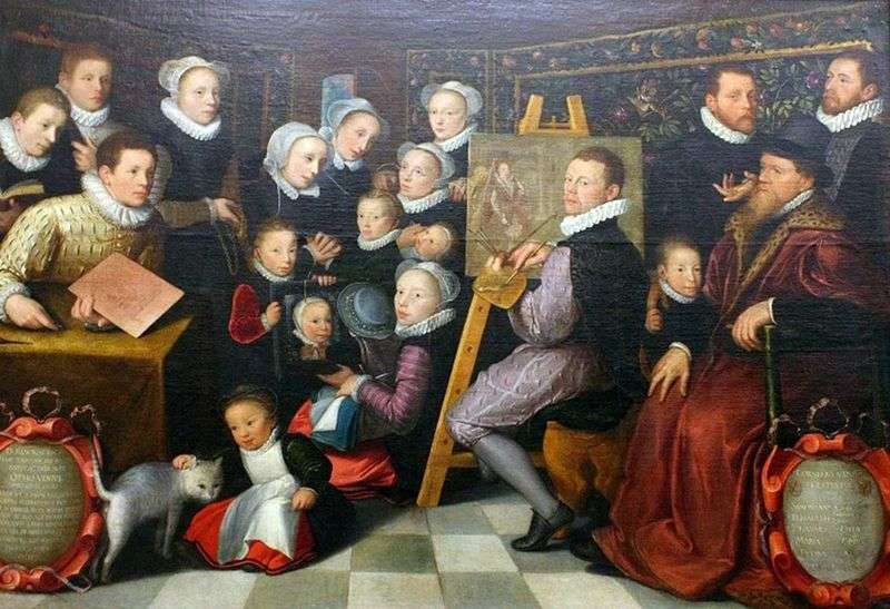 Self Portrait with Family by Otto van Veen