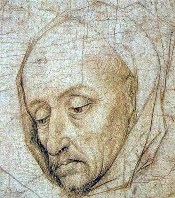 Head of St. Joseph by Rogier van der Weyden