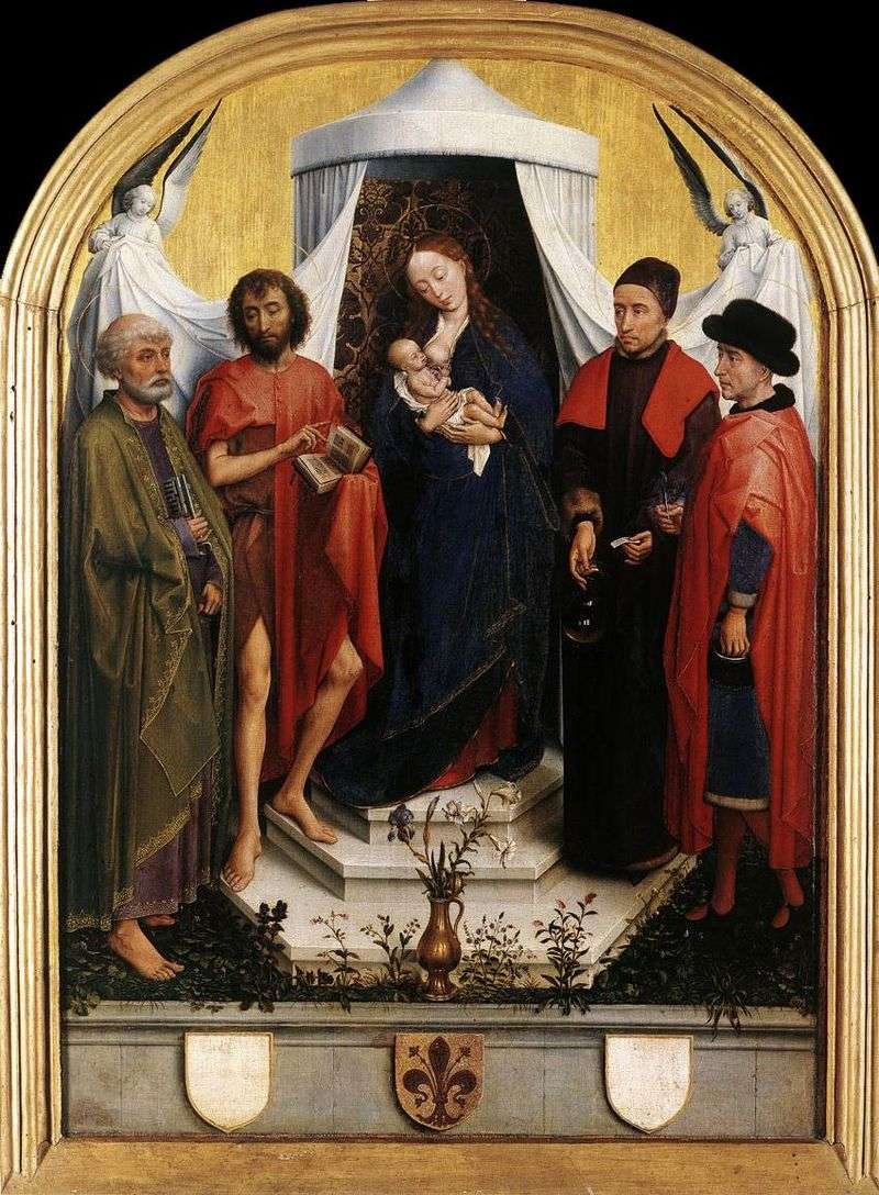 Madonna with the Child and the Four Saints by Rogier van der Weyden