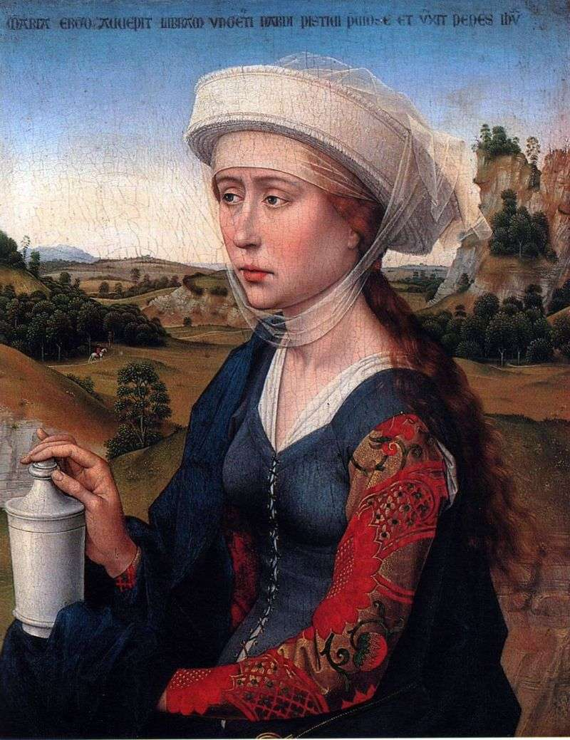 Mary Magdalene. Part of the Triptych of the Marriage Family by Rogier van der Weyden