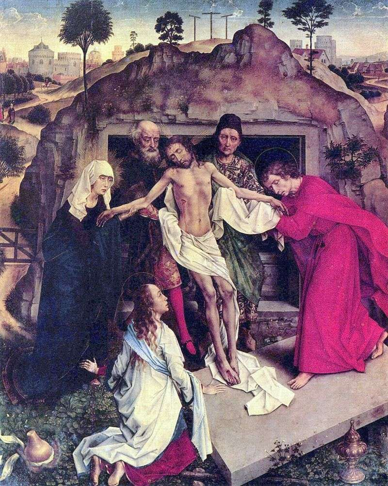 The situation in the grave by Rogier van der Weyden