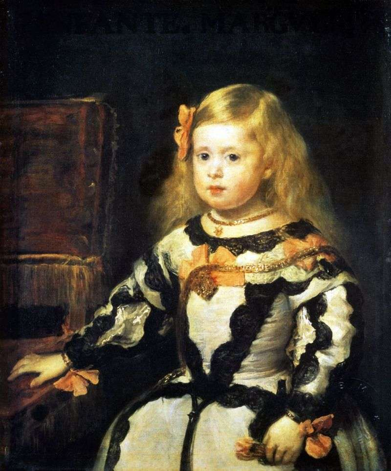 Infanta Maria Margarita, daughter of King Philip IV, King of Spain by Diego Velazquez