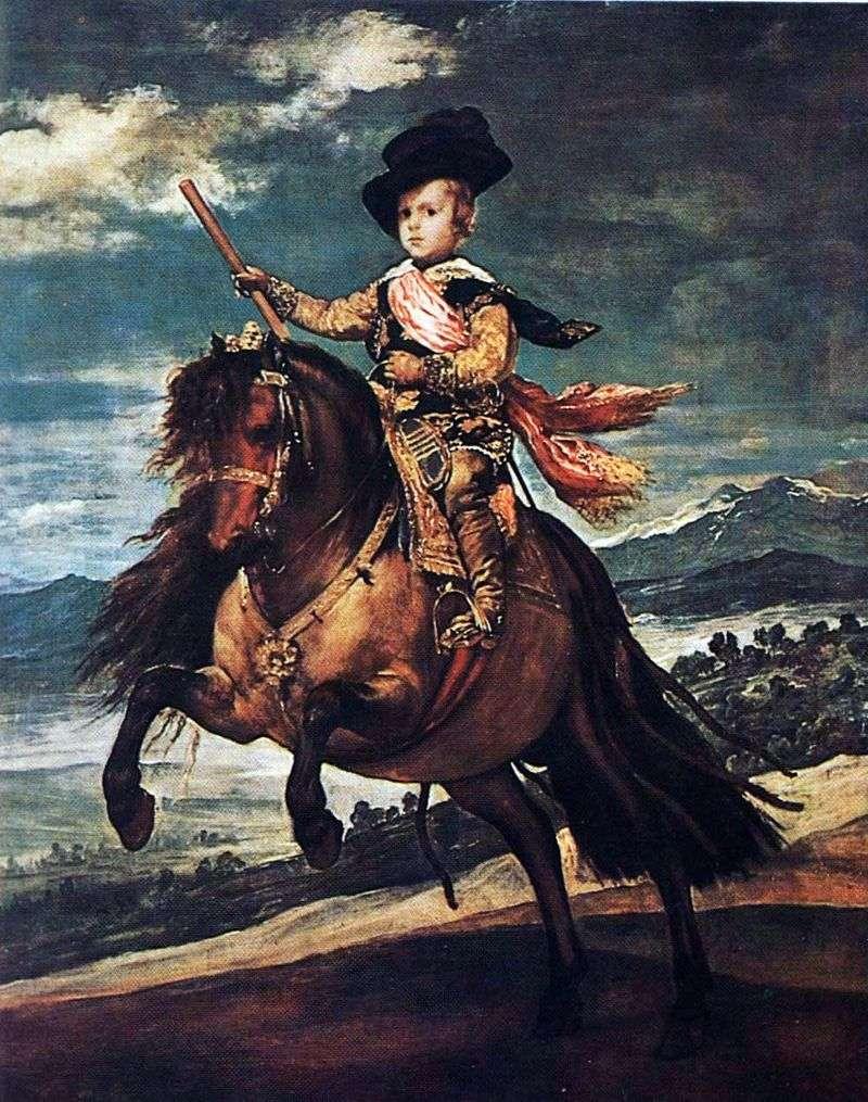 Equestrian portrait of Infanta Balthazar Carlos by Diego Velasquez