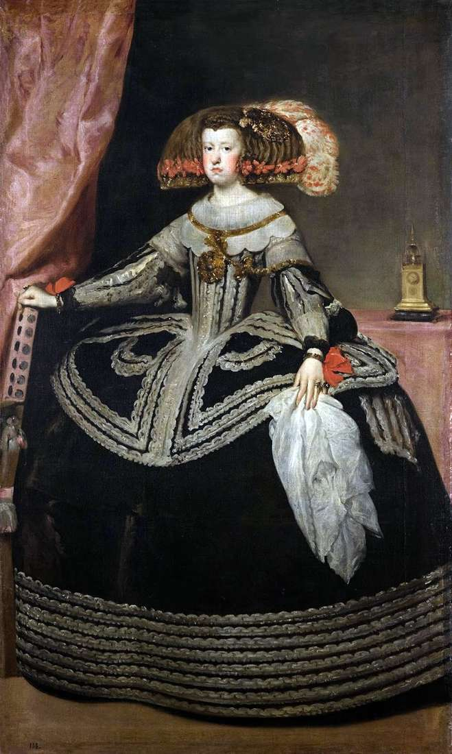 Queen Maria Anna of Austria by Diego Velasquez