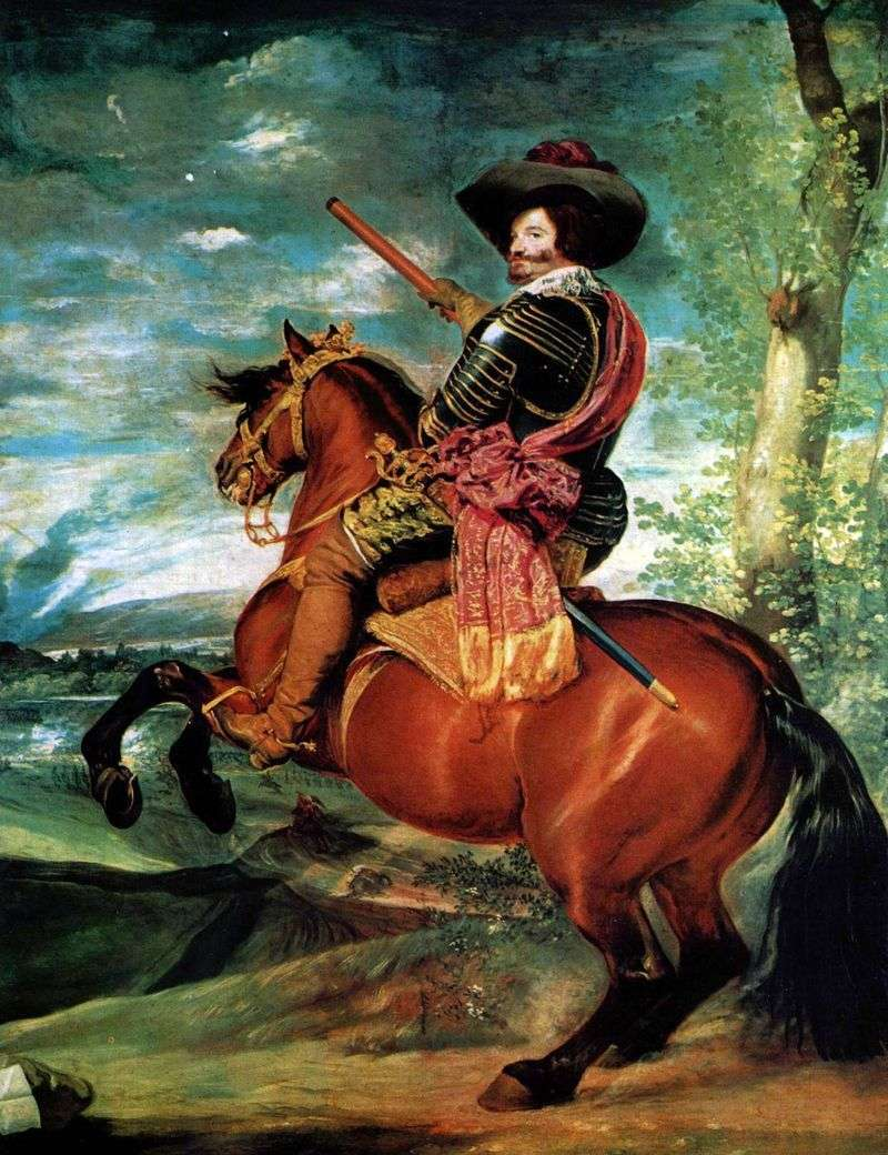 Portrait of Count Duke Olivares by Diego Velasquez