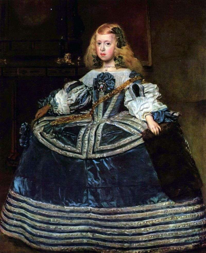 Portrait of the Infanta Margarita by Diego Velasquez