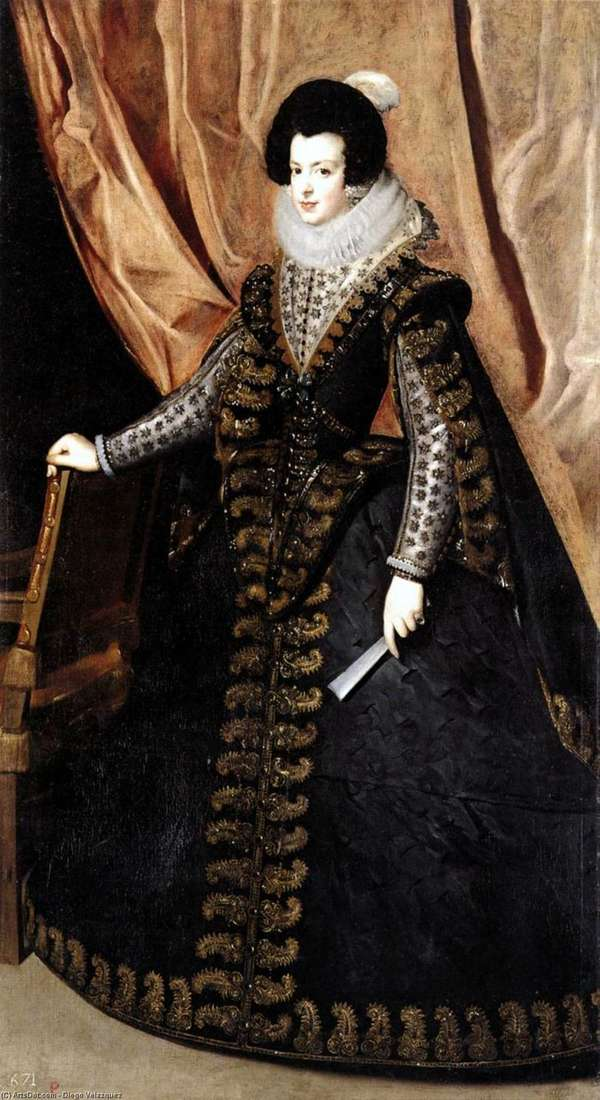Portrait of Queen Isabella of Bourbon by Diego Velasquez