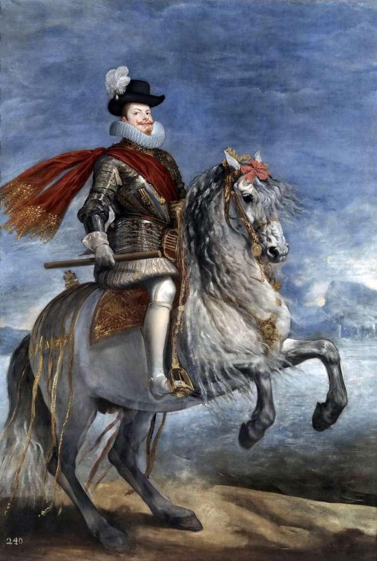 Portrait of King Philip III by Diego Velasquez
