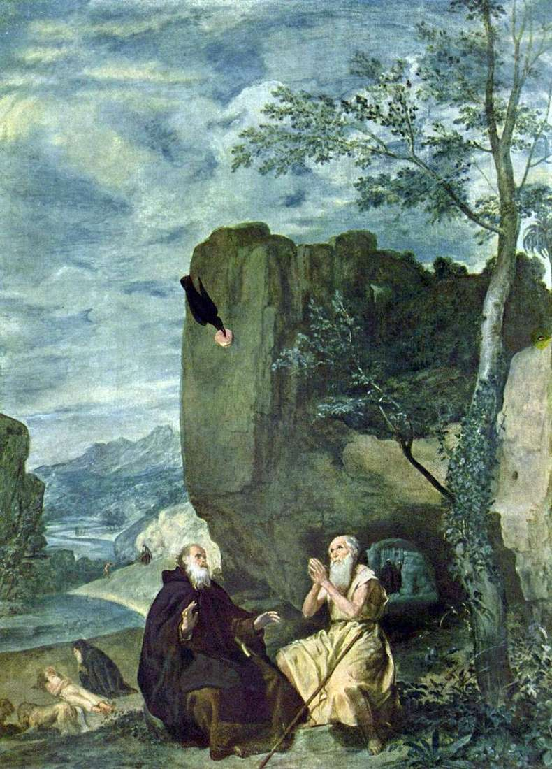 Saints Anthony and Paul by Diego Velasquez