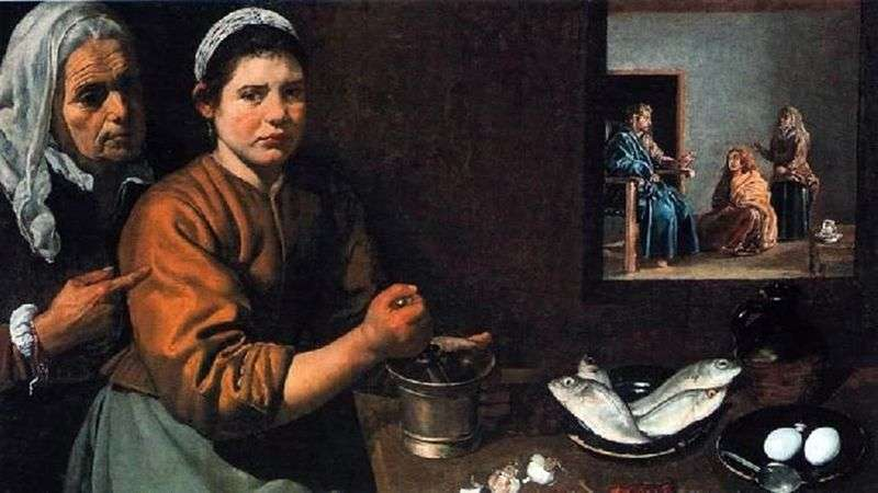 Christ in the house of Martha and Mary by Diego Velasquez