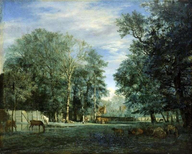 Farm by Adrian van de Velde