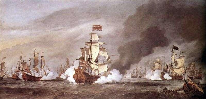 The Battle of Texel by Willem van de Velde