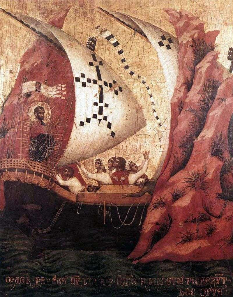 St. Mark reassures the sea by Paolo Veneziano