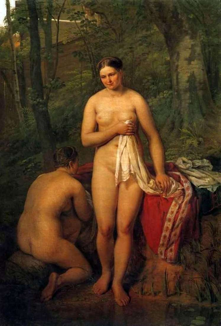 Bathers by Alexei Venetsianov