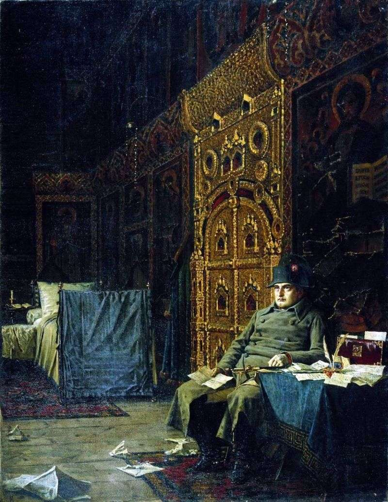 At the stage   bad news from France   Vasily Vereshchagin
